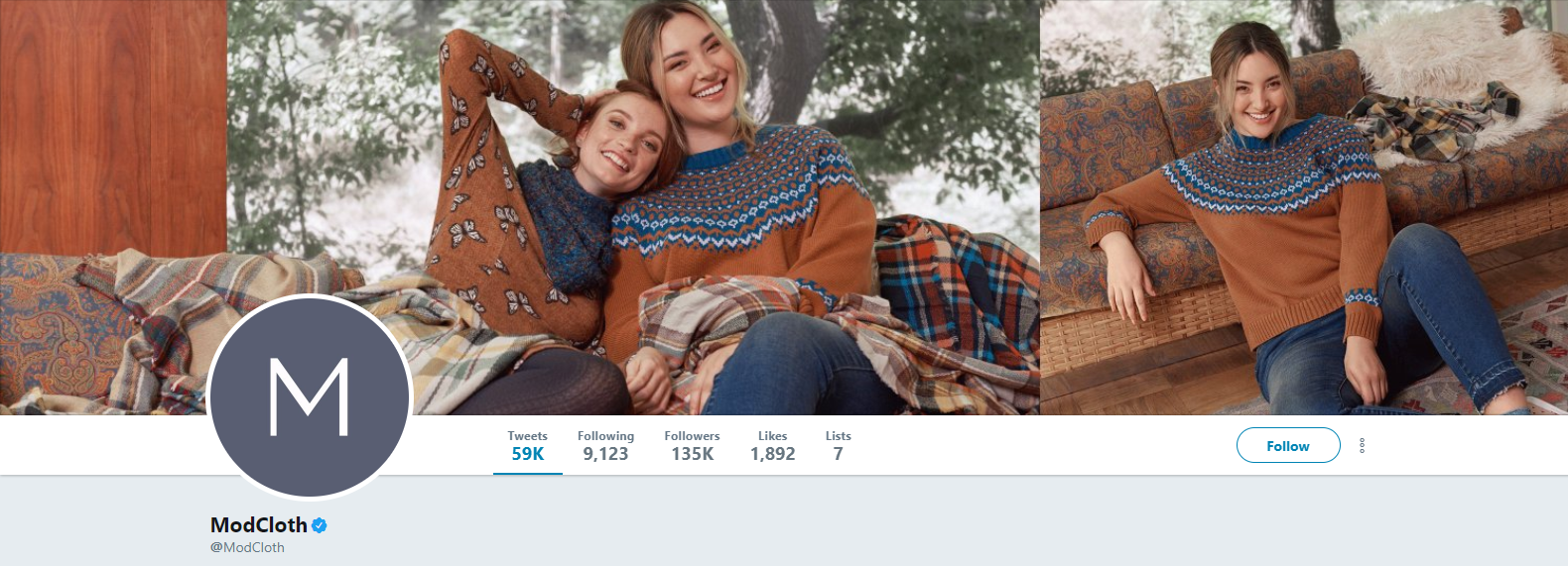ModCloth Twitter Profile